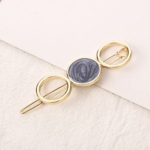 5 for $25 Blue Acrylic Stone Hair Clip Pin